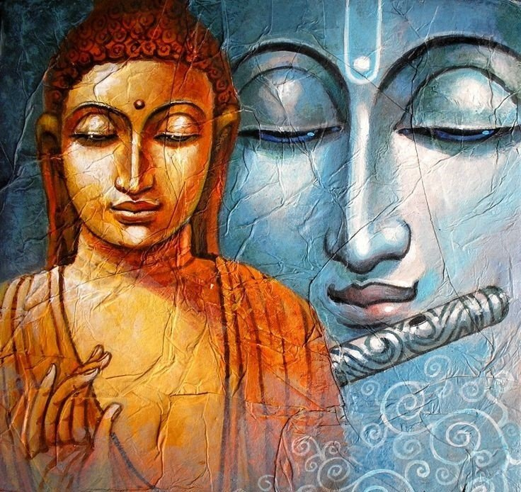 Buddha paintings abstract buddha paintings canvas online bp 108 sciox Image collections