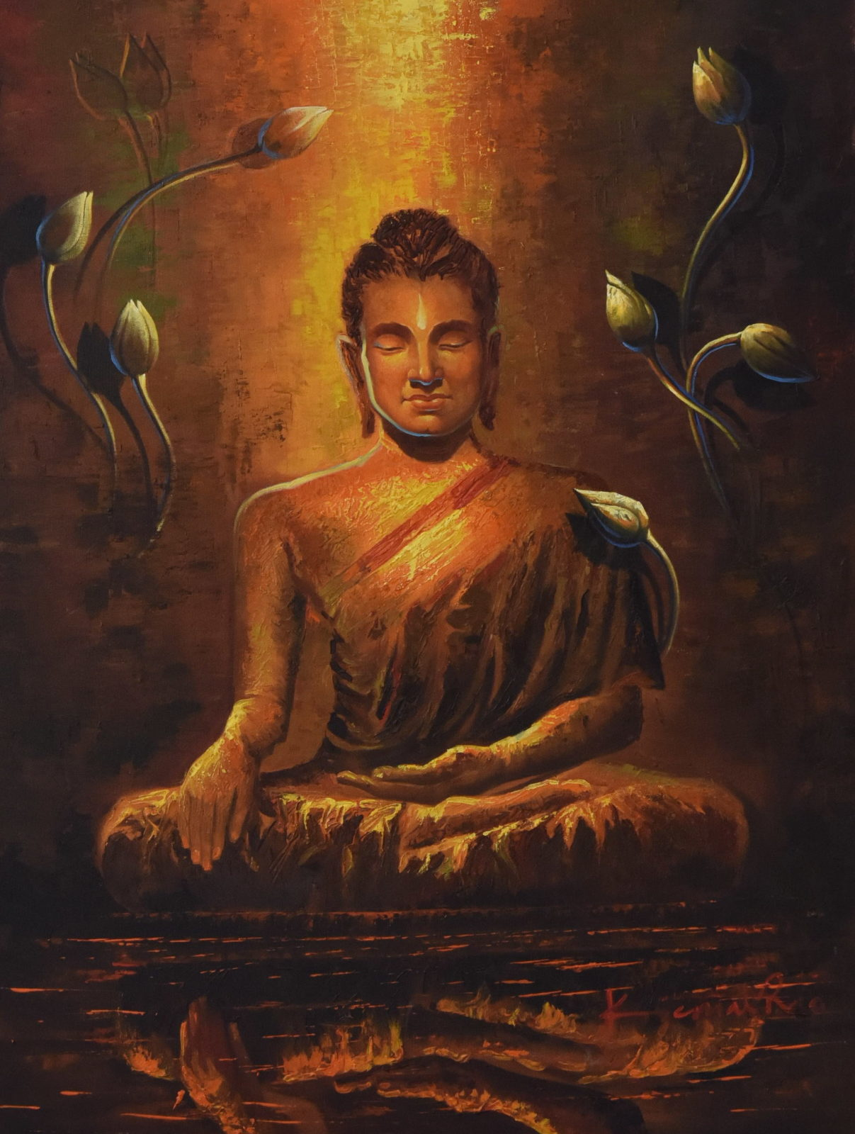 Lord Buddha Canvas Art Paintings | Religious paintings n india
