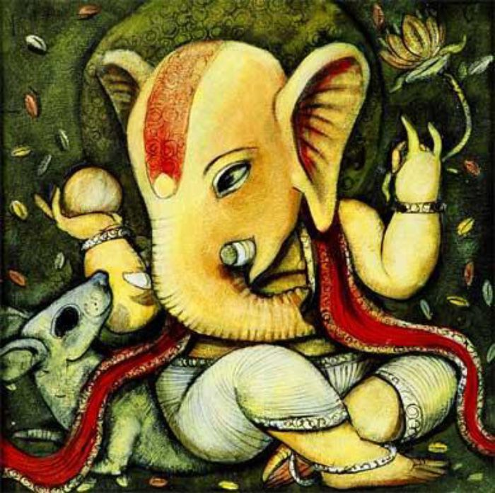 Abstract Paintings Of Lord Ganesha