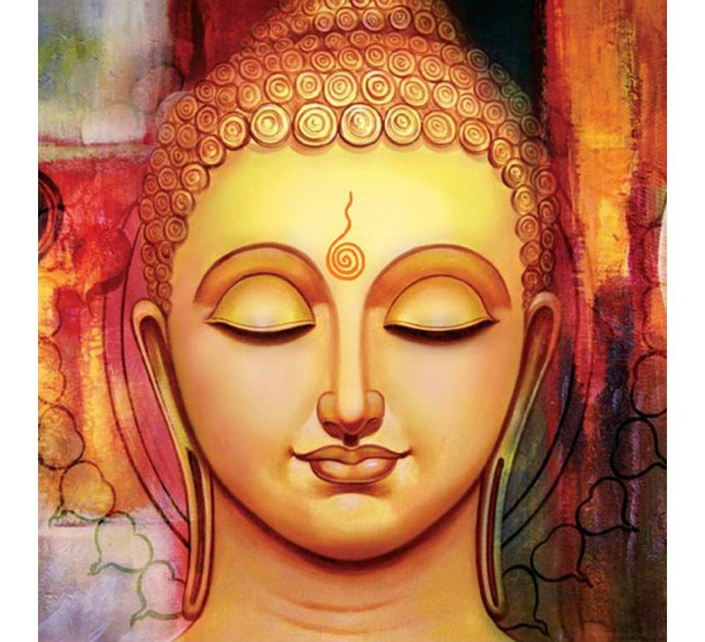 Lord buddha paintings images for Buddha mural paintings