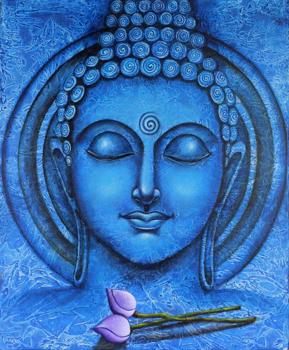 Buddha paintings for sale lord buddha paintings on canvas for Basic portrait painting