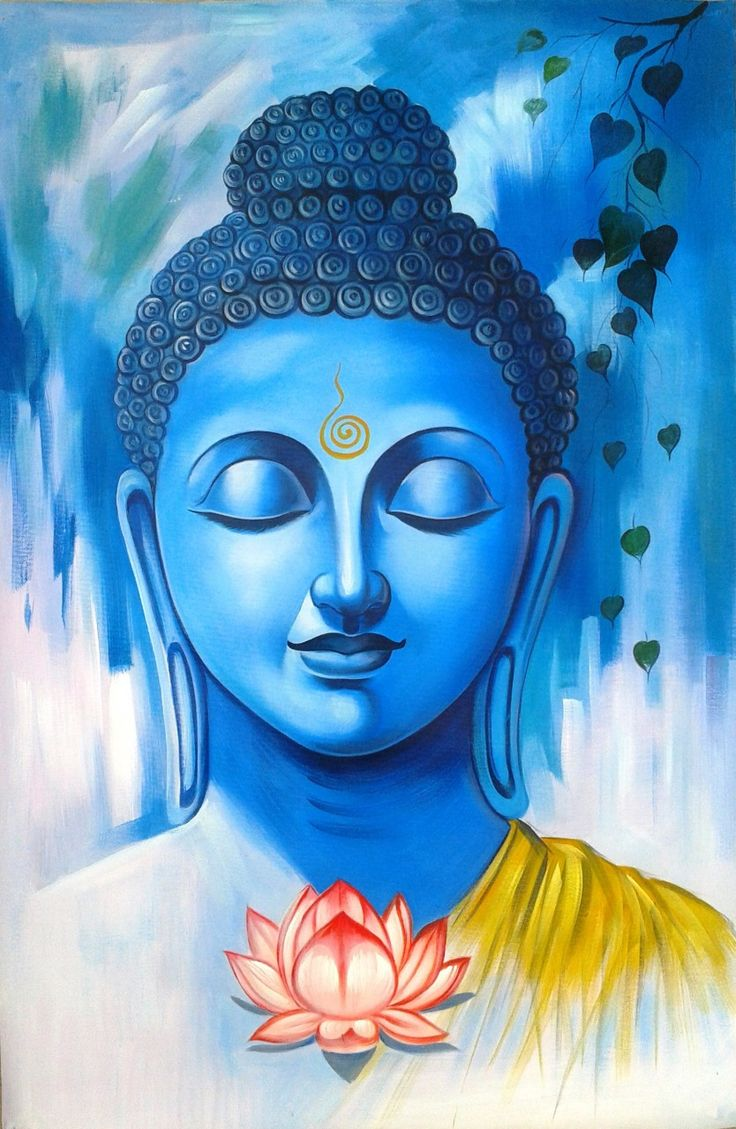 lord buddha abstract art paintings religious paintings in chennai