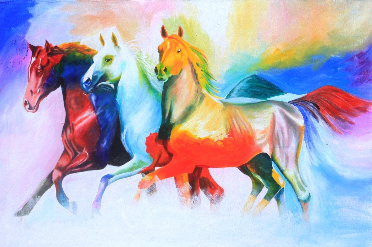 Horse Acrylic Painting Online In Chennai Horse Oil Painting On Canvas